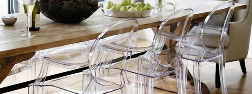 Transparent designer chair replicas