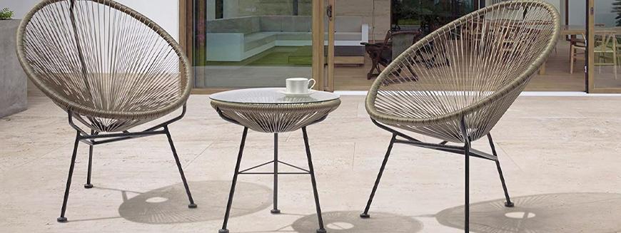 Repliken der besten Designtische für den Garten wie der Acapulco-Tisch.