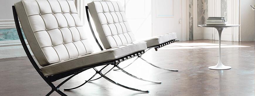 Laadukkaat kopiot Barcelonan tuolista, Mies Van Der Rohe.