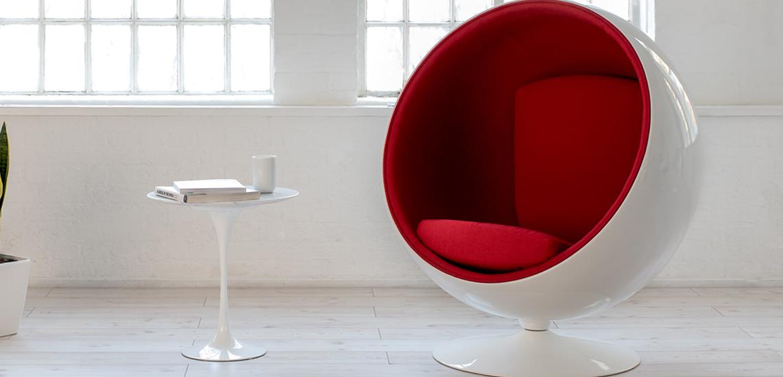 Replica Ball Chair aus Kaschmir des berühmten Designers Eero Aarnio