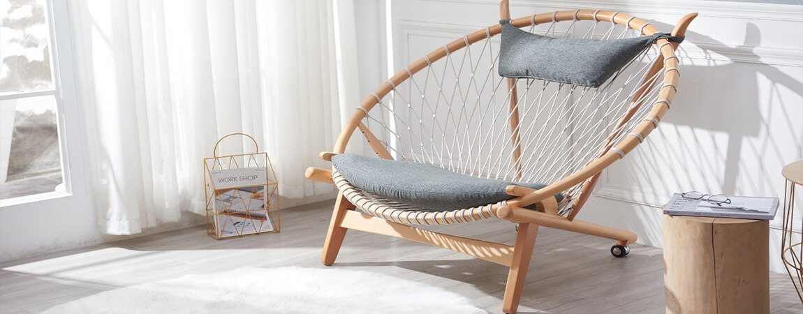 Replica of the Circle Chair PP130 by the famous designer Hans J. Wegner in 1986