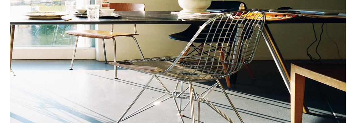 Inspiration Eames DKR chair with cushion by designers Charles & Ray Eames.