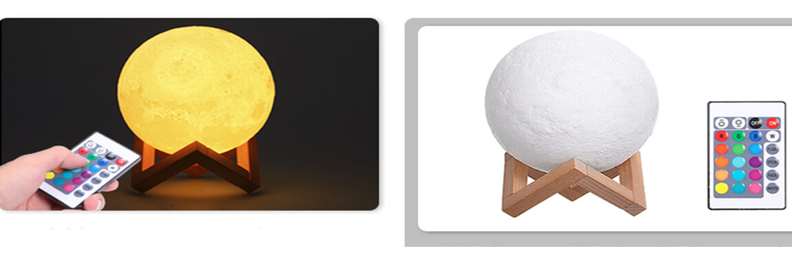 3D Moon Lamp LED Light with 15 cm Diameter and USB Connection