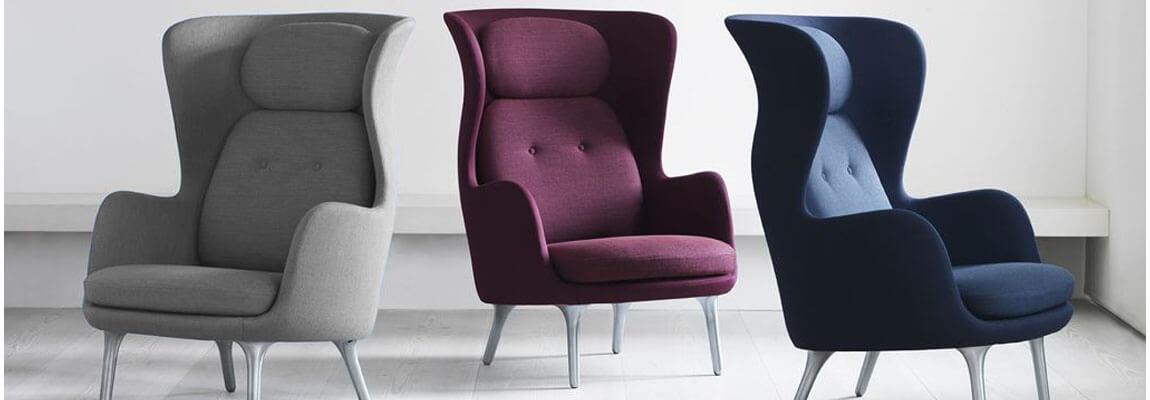 Réplique du fauteuil Ro Back en cachemire du designer Jaime Hayón