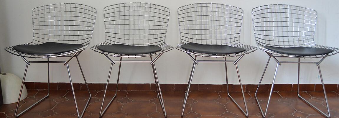 Réplica de la silla Bertoia en acero cromado de Harry Bertoia