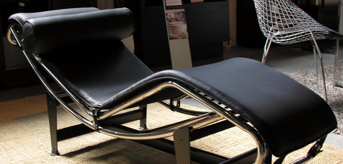Réplique du Chaise longue LC4 célèbre designer Le Corbusier