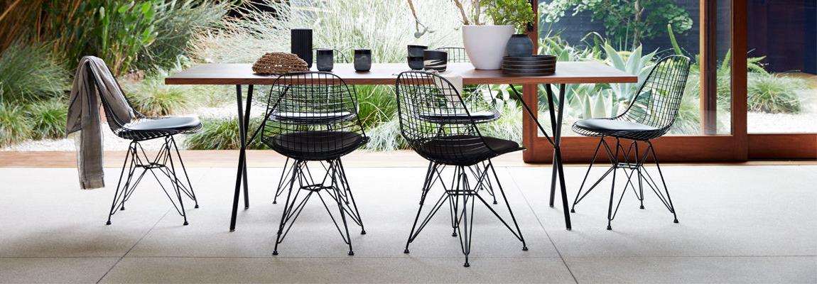 Ispirazione Sedia Eames DKR con cuscino dei designer Charles & Ray Eames.