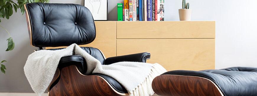 Repliche di poltrone relax di design come la famosa poltrona Eames di Charles & Ray Eames.