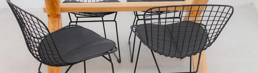 Colección de sillas y taburetes Bertoia