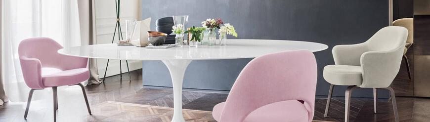 Tables Ovales design de salle à manger