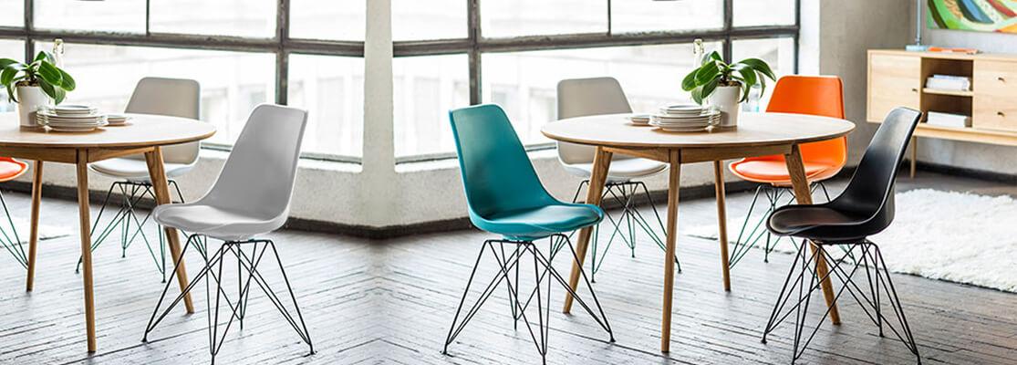 Réplique pas cher de la chaise Eames DSW des designers Charles & Ray Eames