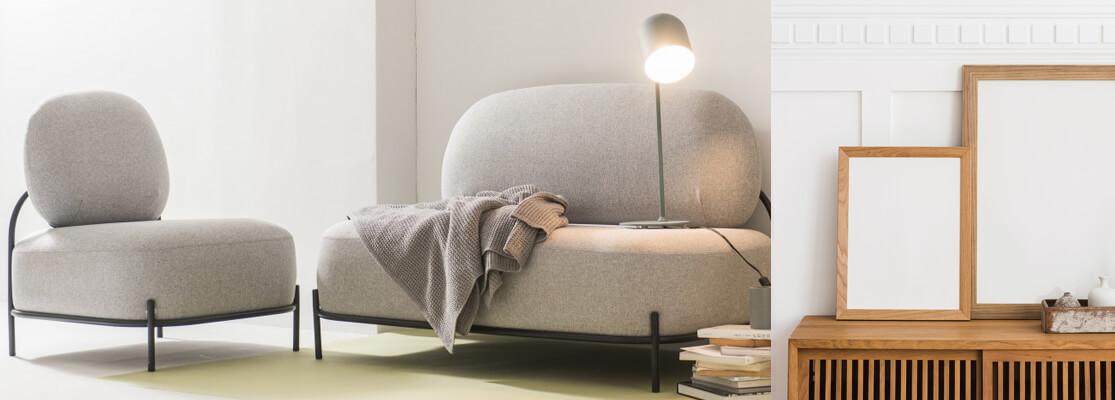 Sofá de diseño tapizado ecónomico