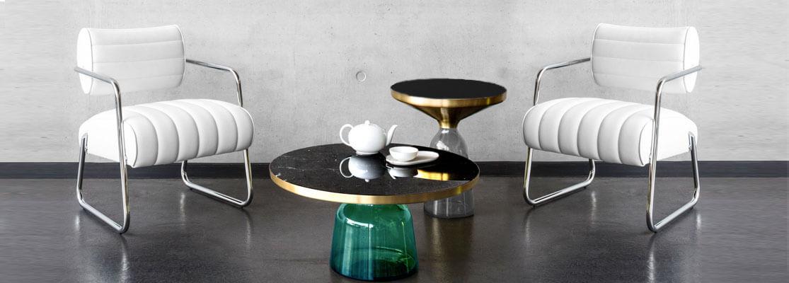 Inspiration pour les tables Bell du designer Sebastian Herkner