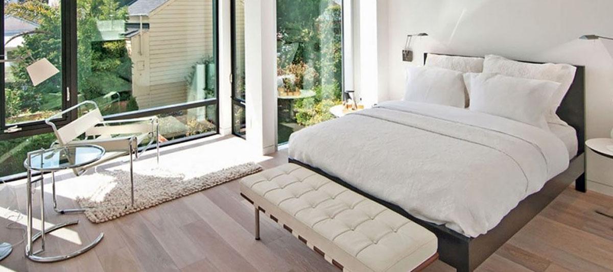 Barcelona bench by designer Mies Van Der Rohe
