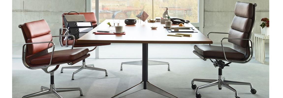 Chaise bureau Eames Soft Pad EA 219 du designer Charles & Ray Eames