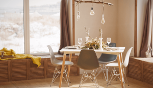 Tricks for a low cost lounge or dining room