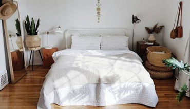 dormitorio boho-chic