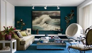 El azul petróleo en la decoración de interiores